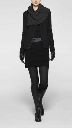 sarah pacini #pmtslouisville #paulmitchellschools #style #pmtsblackout #black #blackonblack #onlyblack #ideas #inspiration http://www.sarahpacini.com/en/shop-online/winter/looks/all-looks/