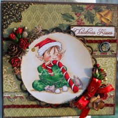 Pysselbus: DT Copic Marker Sweden: Mo Mannings little elf!