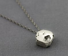 The Niki Necklace - Oxidized Silver, by Upper Metal Class $75