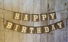 Happy Birthday Banner Personalized Boy Rustic By