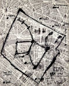 Tea? (Lepus, 'The Hare,' Constellation over #Paris) India Ink on paper from a 1970 #French book #art 13 3/4 by 11 inches © Neal Turner 2016 http://stores.ebay.com/GALLERY-ANT