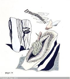 Toyen – CERMÍNOVÁ Marie | Surrealistic Composition, 1934 | watercolors and ink on paper