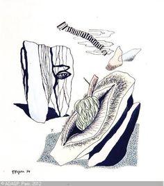 Toyen – CERMÍNOVÁ Marie | Surrealistic Composition, 1934 | watercolors and ink…
