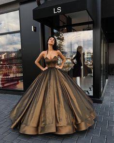 Gigantic copper/gold ball gown dress #LD