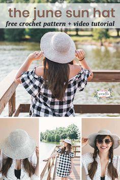 Crochet June Sun Hat - Sewrella