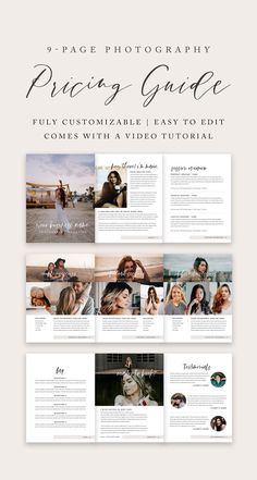 photography pricing guide, photography for beginners, wedding photography templates, marketing for photographers, fully customizable photography Photography Price List, Wedding Photography Pricing, Wedding Photography Packages, Photography Business, Food Photography, Photography Studios, Nikon D5200, Editorial Design, Selfies