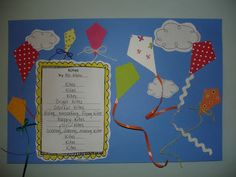 May- Kite Day  Write a poem about kites.