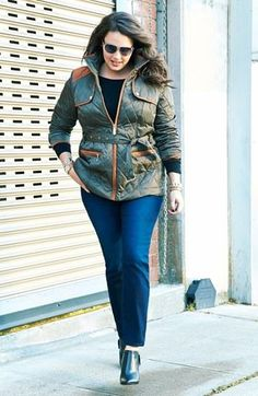 Work it! Great quilted jacket that celebrates curves.