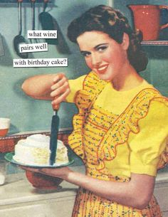 Inside: trick question: they all do! Birthday Quotes For Him, Birthday Wishes Funny, Happy Birthday Images, Happy Birthday Greetings, Birthday Memes, Happy Birthday Vintage, Wine Birthday Meme, Happy Birthday Funny Humorous, Birthday Posts