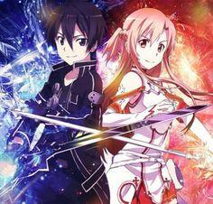 """Sword Art Online Anime basado en las novelas ligeras de Reki Kawahara e ilustradas por Abec.  Escapar es imposible hasta terminar el juego; un game over significaría una verdadera """"muerte""""."""