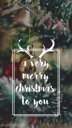 """A very Merry Christmas to you"" Christmas tree ornaments background wallpaper you can download for free on the blog! For any device; mobile, desktop, iphone, android! FREE CHRISTMAS WALLPAPER DOWNLOAD"