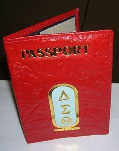 Delta Sigma Theta passport case (A & W Greek Shop)