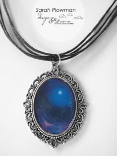 Blue Outer Space Nebula Pendant