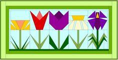 tulips paper pieced | ... ://preservinghomebasics.com/2013/04/daisy-paper-pieced-quilt-block