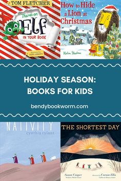 Looking for holiday books for your kids? Click through to find out this list: Holiday Season: Books for Kids! Bendy Bookworm Yoga #kidsbooks