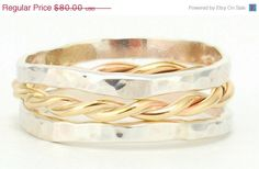 ON sale Black friday Twisted Wire Stacking ring  2 by LIRANSHANI