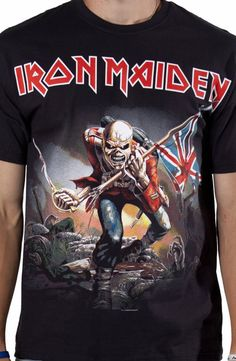 The Trooper Iron Maiden Shirt rap t-shirt Metal Shirts, Rock Shirts, 3d T Shirts, Cool T Shirts, Printed Shirts, Band Shirts, Iron Maiden Shirt, The Trooper, New Look Fashion