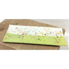 Plat à cake/ Anis et Giclures Multicolores.