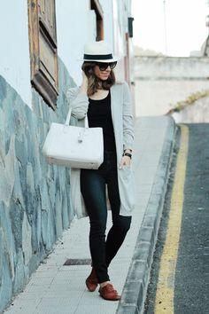 Maxi cardigan & Oxford shoes | Well-living blogWell-living blog