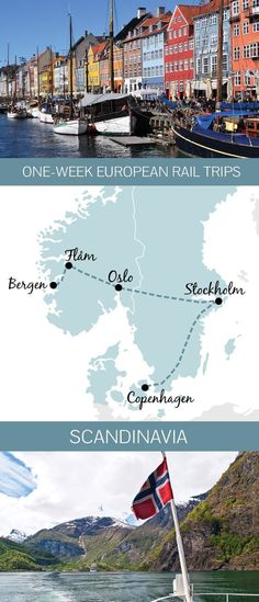 Europe by train: Five great one-week rail trip routes Exploring Europe by train: Five of the best European rail trip itinerary ideas you can do in just one week, including Italy, Scandinavia and Eastern Europe. Europe Train Travel, New Travel, Travel Deals, London Travel, Top Travel Destinations, Places To Travel, Travel Tips, Travel Hacks, Travel Packing