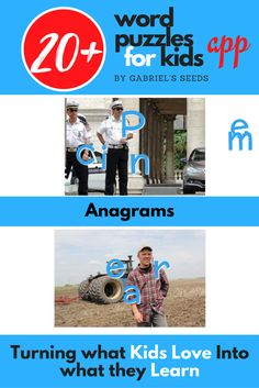 Word puzzles for kids | educational apps | learning apps, anagrams
