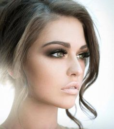 Get inspired: Nude lips and dramatic smokey eyes... A truly charming wedding look, bringing together the best of Striking and Au Naturel!