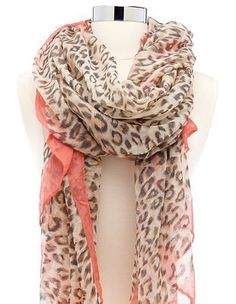 I love the two color combo coral and leopard print!
