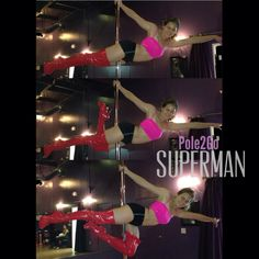 Superman variations  Pole moves, pole dancing, pole dance, pole fitness
