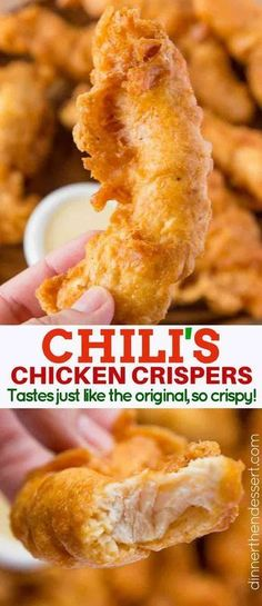 Chili's Chicken Crispers (Copycat)Chili's Chicken Crispers copycat with the delicious shatteringly crispy crust that Chili's crispers famously have, but made at home! So easy to make and also a great batter for fish too! Chili's Chicken Crispers Bac. Chilis Chicken Crispers, Chicken Chili, Chicken Gravy, Chicken Snacks, Copykat Recipes, Chilis Copycat Recipes, Chilis Restaurant Recipes, Famous Restaurant Recipes, Mets