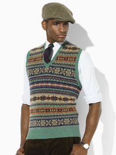 Mens Fair Isle Sweater Knitting Patterns : mens vintage knitting pattern fair isle tank top or vest tims bord Pinter...