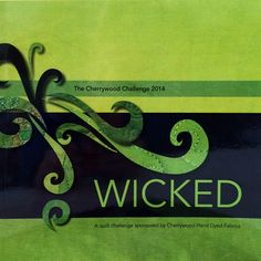 The WICKED Book / Cherrywood Hand Dyed Fabric