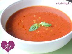 Olasz paradicsomleves diétásan, bulgurral Eat Pray Love, Soup And Salad, Thai Red Curry, Ham, Cantaloupe, Fruit, Ethnic Recipes, Minden, Food