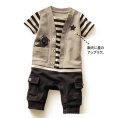 Младенцы цельный ползунки дети подняться одежда мальчики ткань в полоску короткий рукав комбинезон детские комбинезоны младенческой одежда купить на AliExpress
