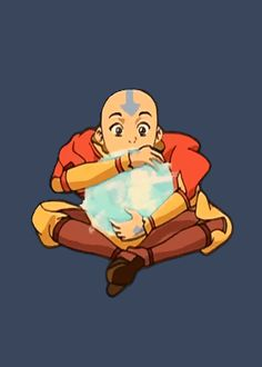 """Aang now floats in my board. Let me just say I always wanted to just play around with his airbending. It looks so cool!"""