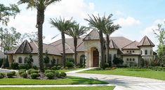 Chateau Masterpiece - 4274MJ   Architectural Designs - House Plans Luxury Homes Dream Houses, Luxury House Plans, Best House Plans, Dream House Plans, House Floor Plans, Dream Homes, Master Suite, Villas, Covered Walkway