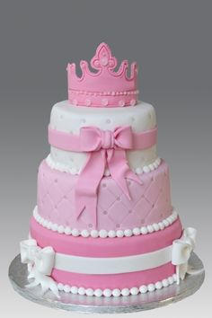 Princess 3 tier Cake By gellyscakes on CakeCentral.com