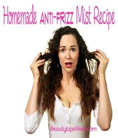 I find this DIY anti-frizz hair serum handy for taming flyways and controlling static electricity. So combat frizz during the summer heat (and any time of the year) with this anti-frizz serum recipe! #diy_hair_serum, #frizzy_hair