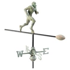 A playful twist on the classic rooster design, this football-themed weathervane makes a perfect gift for the sports enthusiast in your life....