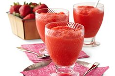 Strawberry lemonade slushes.  Sounds like the perfect thing for a hot day!