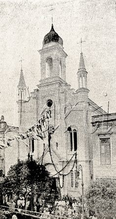 Igreja Ortodoxa de São Nicolau, localizada então na Avenida Gomes Freire. Rio de Janeiro, 1920.