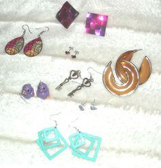 Earrings Funky Earrings Summer Earrings Colourful Earrings RARE New Handmade #Handmade #Assorted