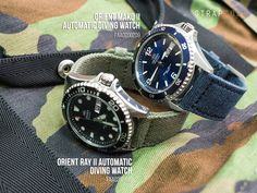 A quick comparison of the new Orient Ray II Automatic Diving Watch FAA02004B9 and Orient Mako II Automatic Diving Watch FAA02002D9 Different fonts on the bevel and on the day/date MAKO II has &#822…