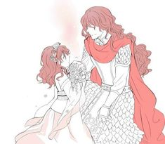 The Crimson Dragon's 2 incarnations: Yona and King Hiryuu- Yona of the Dawn/ Akatsuki no Yona