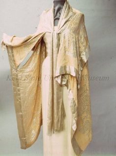 Pink & Lame Cape with Chinese Motifs, American, 1920-1930.