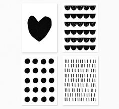 The Minimalist x Black and white / Postcard set