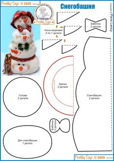 icu ~ Pin on Świąteczne -zima ~ This Pin was discovered by Anna Gaj. Christmas Sewing, Felt Christmas, Christmas Snowman, Christmas Projects, All Things Christmas, Holiday Crafts, Christmas Holidays, Christmas Decorations, Christmas Ornaments