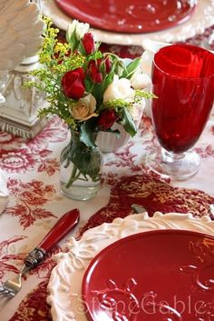Red Tablescape by catrulz