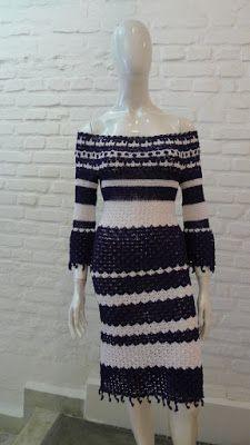 CROCHE DA ANJINHA: Vestidos de croche ,achados na internet