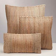 Water Hyacinth Basket Weave Pillows
