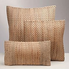 Water Hyacinth Basket Weave Pillows
